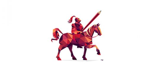 Red geometric knight