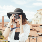 Lady photograph with hat