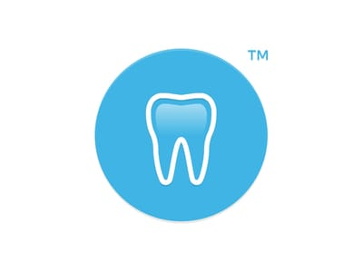 Circular blue tooth logo