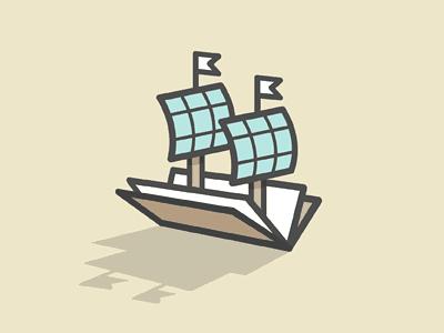 Book and sailboat logo