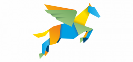 Colorful pegasus logo