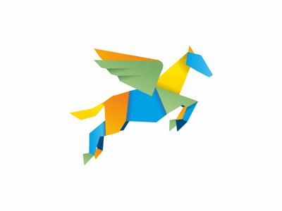 colorful pegasus logo - Logo Design Ideas