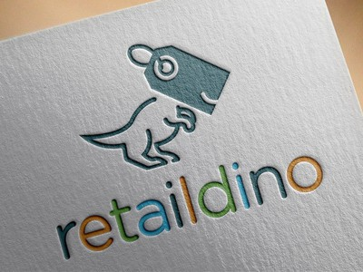 Retail dinosaur logo