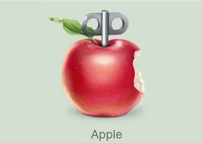 Red Wind-Up Apple