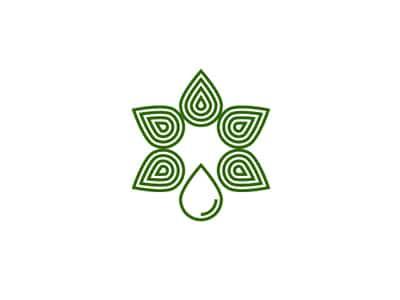 Green water drop