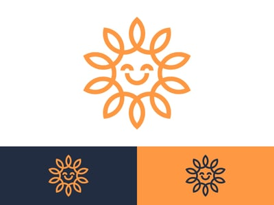 Swirling sun logo