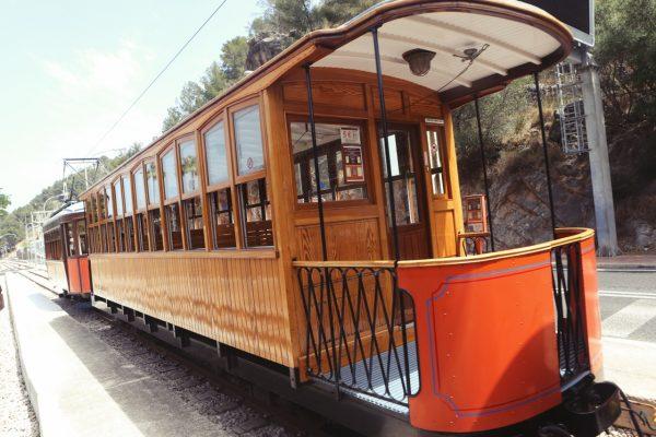 old retro train