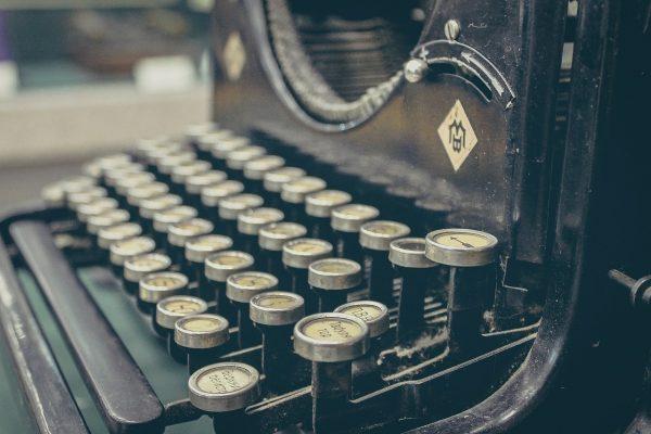 Retro typewritter