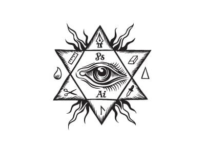 Six pointed star eye
