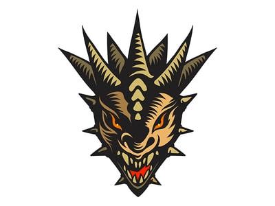 Ferocious dragon logo