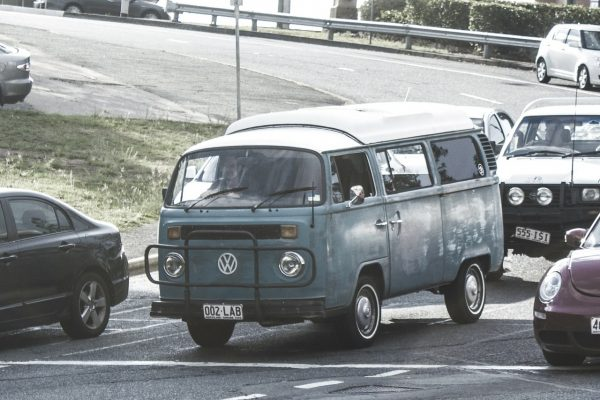 Grey campervan