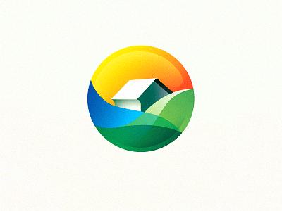 Circular house logo