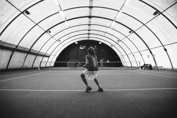 tennis black and white