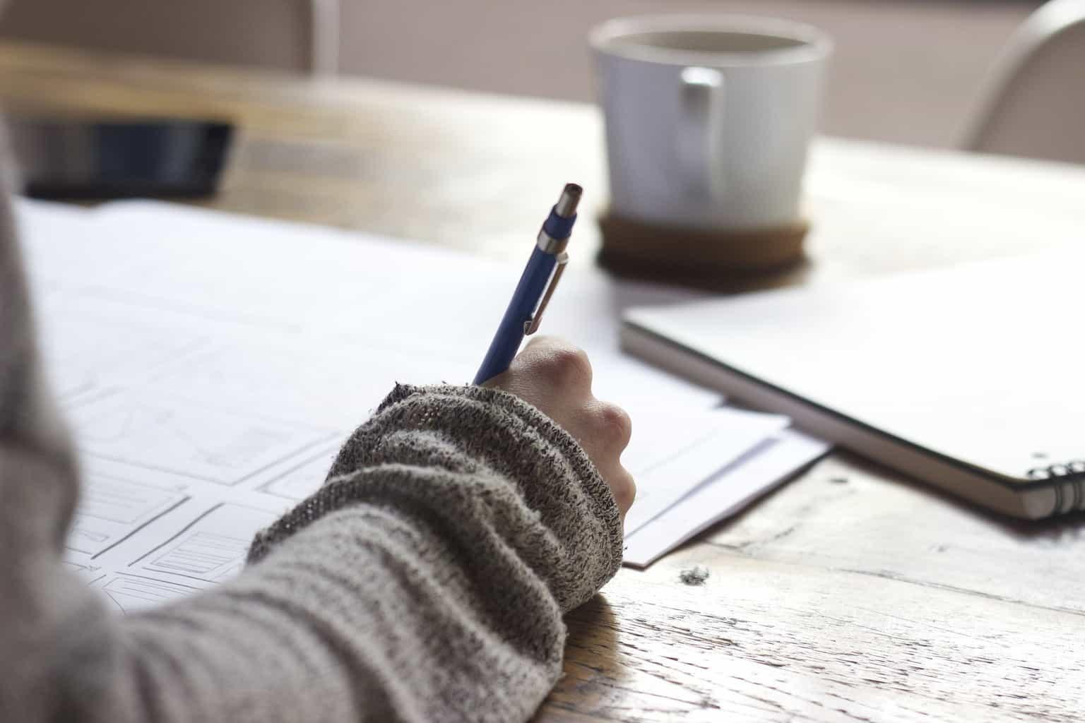 designer writing