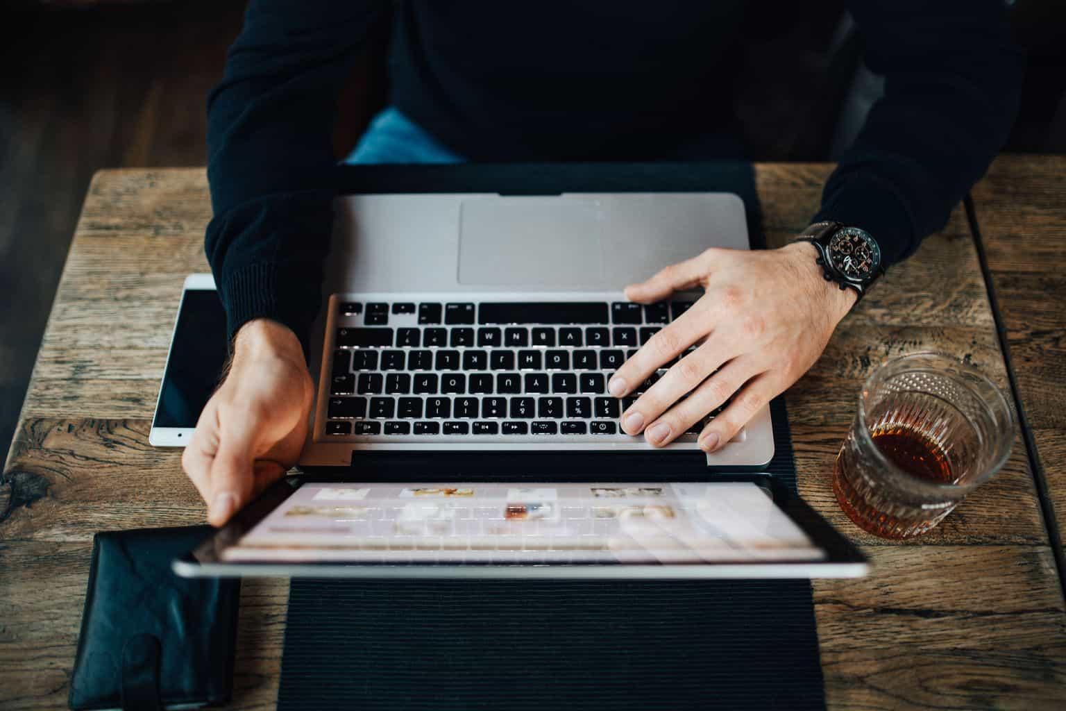 video on website on laptop