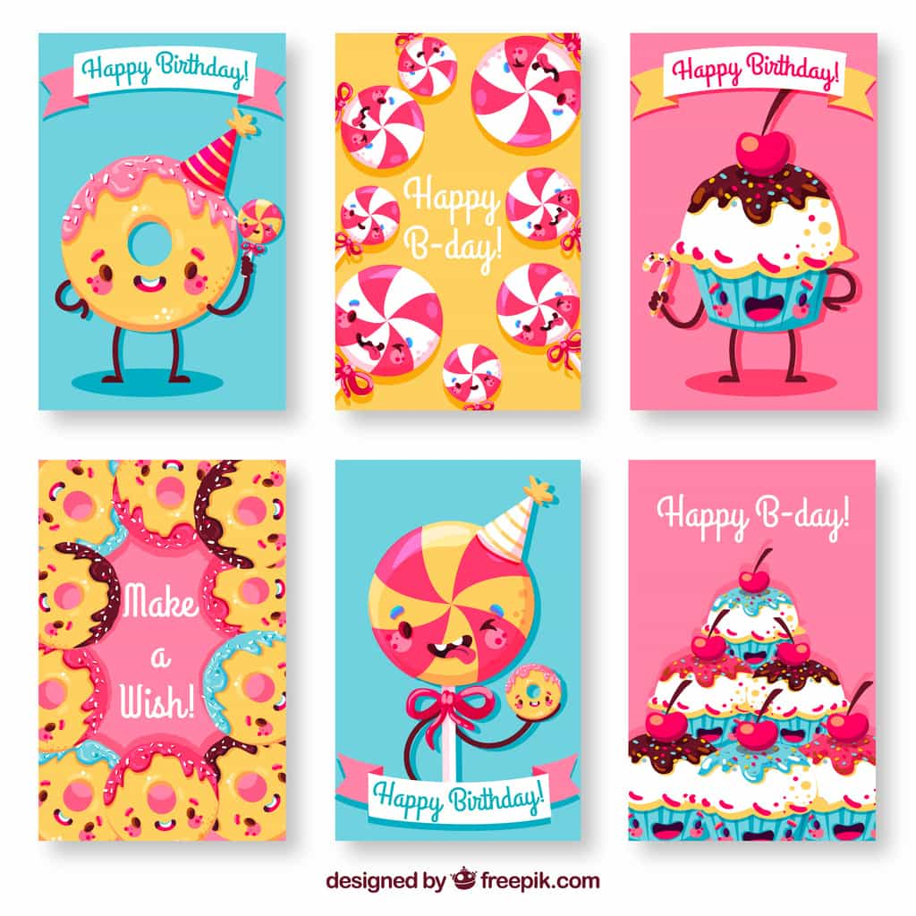 sweets birthday cards