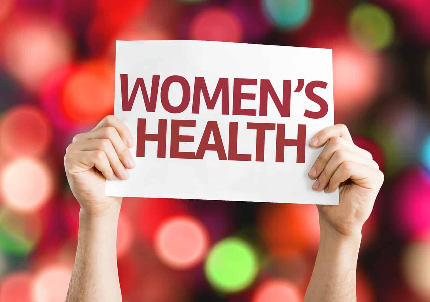 Women's Health card with colorful background
