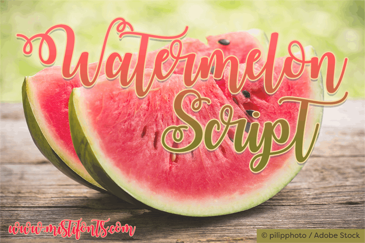 Watermelon Script Demo font — Created in 2016 by Misti's Fonts