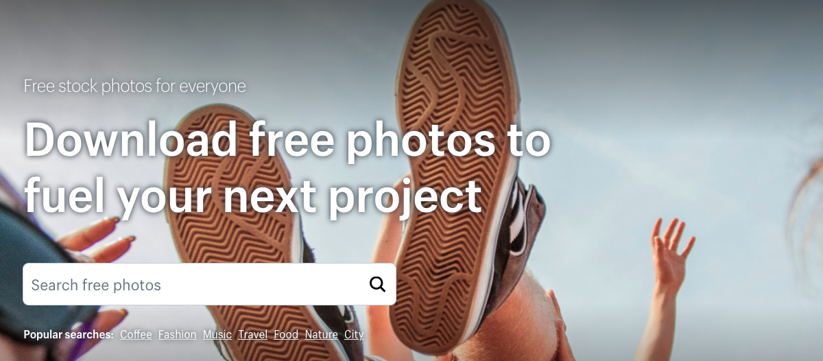 Shopify free stock photo database