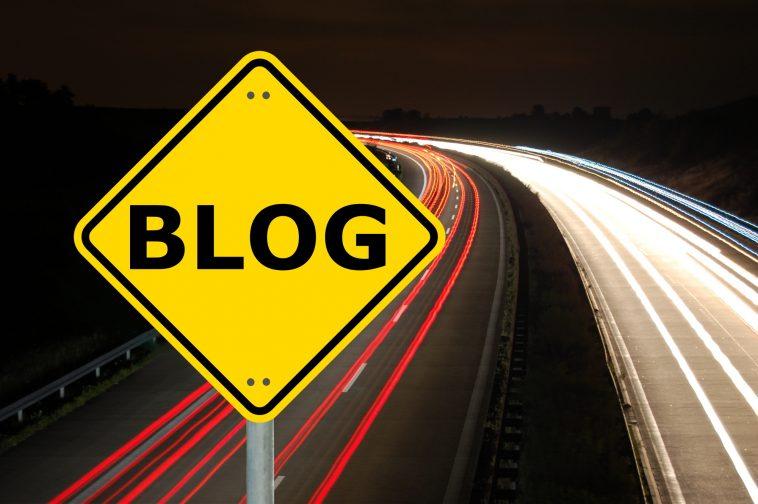 blog traffic sign showing internet