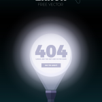 template Error 404 PSD