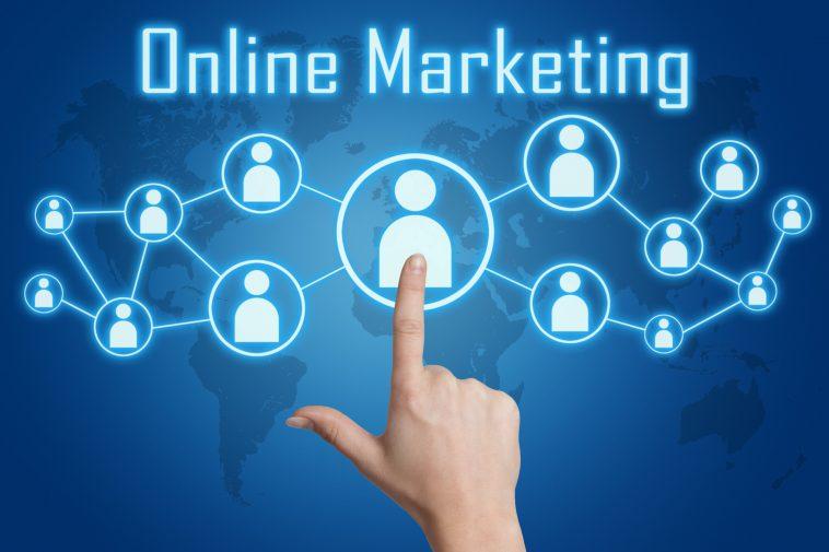 pressing online marketing icon