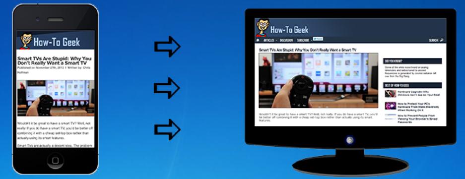 mobile friendly web layout