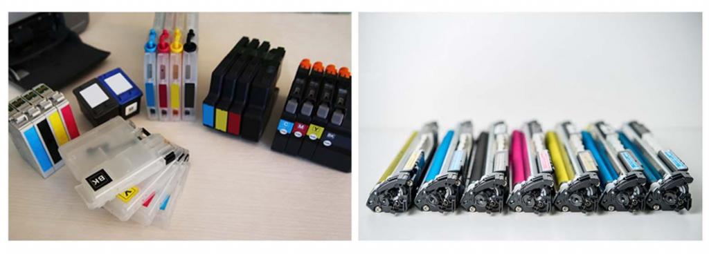 Ink and laser toner cartridges