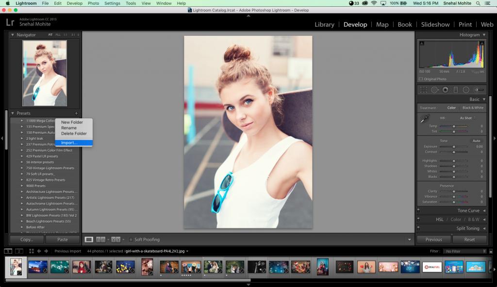 Lightroom Presets to Edit Photos Step 1