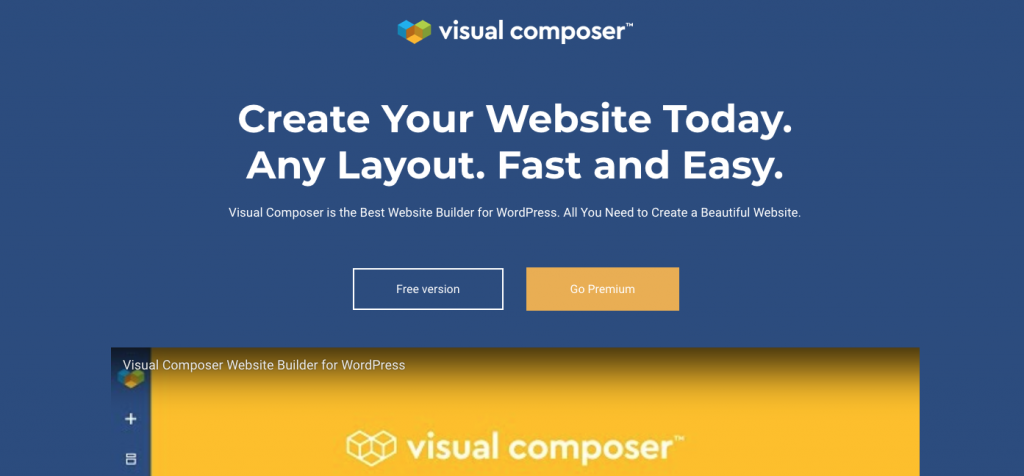 visualcomposer homepage preview